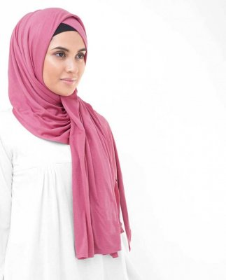 Honey Suckle Fuchsia Viskos Jersey Hijab InEssence 5VA56b