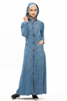 Sana Denim Klänning Med Hood Neways 280384a