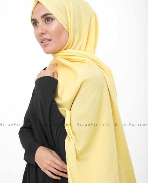 Goldfinch Ljusgul Bomull Voile Hijab InEssence 5TA64b